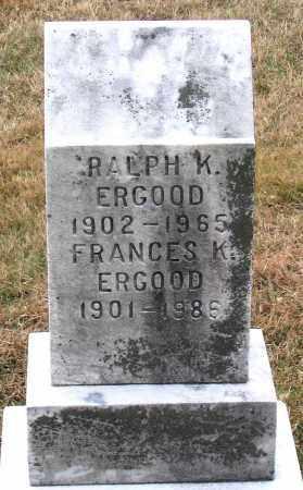 ERGOOD, FRANCES K. - Howard County, Maryland | FRANCES K. ERGOOD - Maryland Gravestone Photos