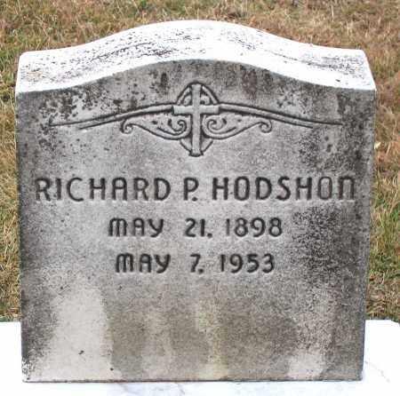 HODSHON, RICHARD P. - Howard County, Maryland   RICHARD P. HODSHON - Maryland Gravestone Photos