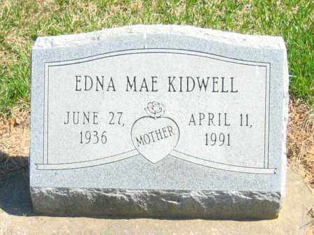 HALL KIDWELL, EDNA MAE - Howard County, Maryland | EDNA MAE HALL KIDWELL - Maryland Gravestone Photos