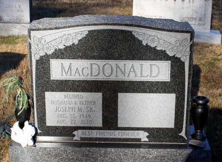 MACDONALD, JOSEPH M. SR. - Howard County, Maryland | JOSEPH M. SR. MACDONALD - Maryland Gravestone Photos