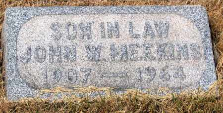 MEEKINS, JOHN W. - Howard County, Maryland | JOHN W. MEEKINS - Maryland Gravestone Photos