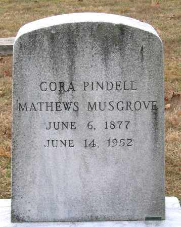 MATHEWS MUSGROVE, CORA PINDELL - Howard County, Maryland | CORA PINDELL MATHEWS MUSGROVE - Maryland Gravestone Photos