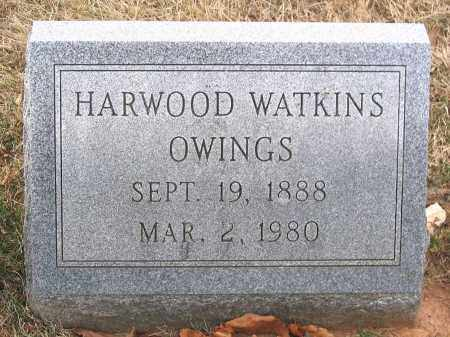 OWINGS, HARWOOD WATKINS - Howard County, Maryland | HARWOOD WATKINS OWINGS - Maryland Gravestone Photos