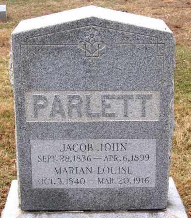 PARLETT, JACOB JOHN - Howard County, Maryland | JACOB JOHN PARLETT - Maryland Gravestone Photos
