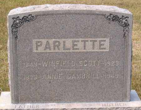 PARLETT, ANNIE GAMBRILL - Howard County, Maryland | ANNIE GAMBRILL PARLETT - Maryland Gravestone Photos