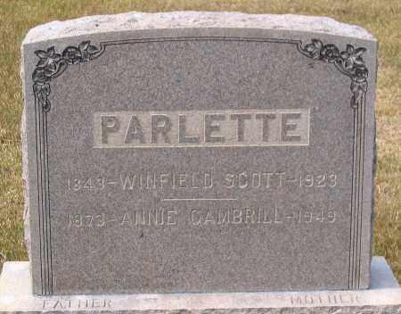 PARLETTE, WINFIELD SCOTT - Howard County, Maryland | WINFIELD SCOTT PARLETTE - Maryland Gravestone Photos