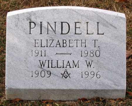 PINDELL, WILLIAM W. - Howard County, Maryland | WILLIAM W. PINDELL - Maryland Gravestone Photos