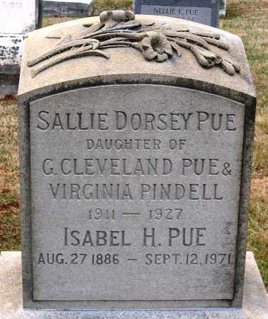 PUE, ISABEL H. - Howard County, Maryland | ISABEL H. PUE - Maryland Gravestone Photos