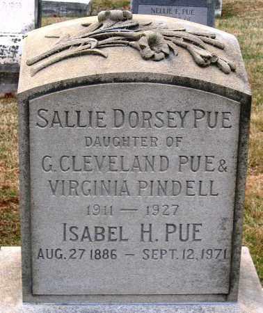 PUE, SALLIE DORSEY - Howard County, Maryland | SALLIE DORSEY PUE - Maryland Gravestone Photos
