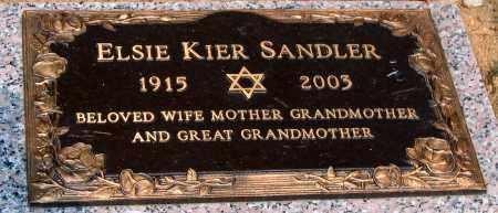 SANDLER, ELSIE KIER - Howard County, Maryland | ELSIE KIER SANDLER - Maryland Gravestone Photos