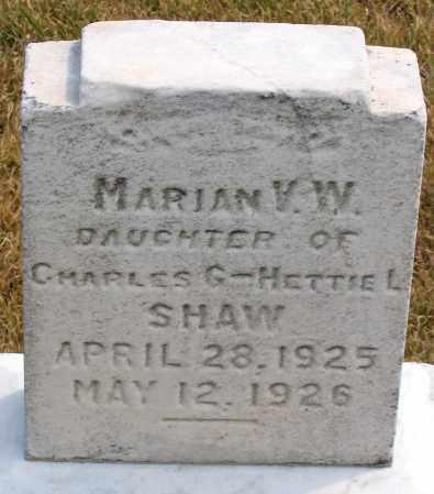 SHAW, MARIAN V. W. - Howard County, Maryland | MARIAN V. W. SHAW - Maryland Gravestone Photos
