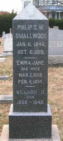 SMALLWOOD, EMMA JANE - Howard County, Maryland | EMMA JANE SMALLWOOD - Maryland Gravestone Photos