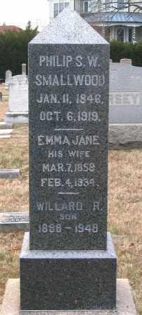 SMALLWOOD, EMMA JANE - Howard County, Maryland | EMMA JANE SMALLWOOD - Maryland Gravestone Photos