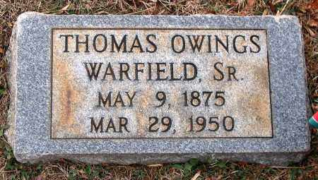 WARFIELD, THOMAS OWINGS SR. - Howard County, Maryland | THOMAS OWINGS SR. WARFIELD - Maryland Gravestone Photos