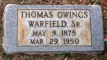 WARFIELD, THOMAS OWINGS SR. - Howard County, Maryland | THOMAS OWINGS SR. WARFIELD - Maryland Gravestone Photos