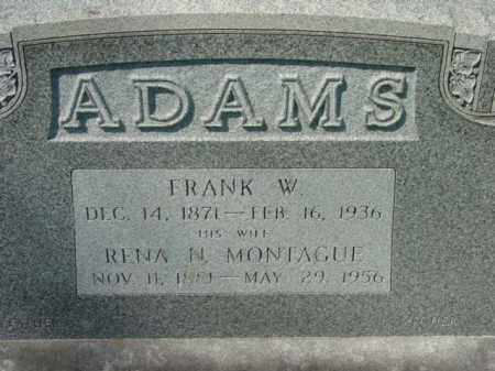 MONTAGUE ADAMS, RENA N. - Talbot County, Maryland | RENA N. MONTAGUE ADAMS - Maryland Gravestone Photos
