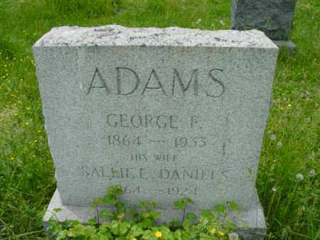 ADAMS, GEORGE F. - Talbot County, Maryland | GEORGE F. ADAMS - Maryland Gravestone Photos