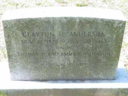 ANDERSON, CLAYTON H. - Talbot County, Maryland | CLAYTON H. ANDERSON - Maryland Gravestone Photos