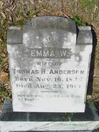 ANDERSON, EMMA W. - Talbot County, Maryland   EMMA W. ANDERSON - Maryland Gravestone Photos