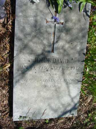 ANDERSON, JOHN DAVID - Talbot County, Maryland | JOHN DAVID ANDERSON - Maryland Gravestone Photos