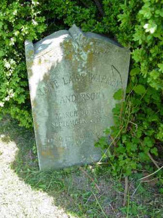 ANDERSON, JANE LAWS WARREN - Talbot County, Maryland   JANE LAWS WARREN ANDERSON - Maryland Gravestone Photos