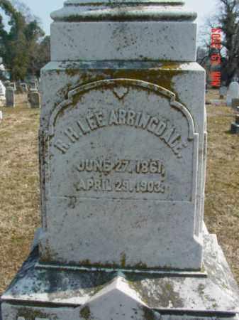ARRINGDALE, R. H. LEE - Talbot County, Maryland | R. H. LEE ARRINGDALE - Maryland Gravestone Photos