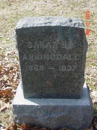 ARRINGDALE, SARAH R. - Talbot County, Maryland | SARAH R. ARRINGDALE - Maryland Gravestone Photos