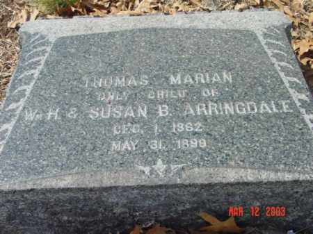 ARRINGDALE, THOMAS MARIAN - Talbot County, Maryland | THOMAS MARIAN ARRINGDALE - Maryland Gravestone Photos