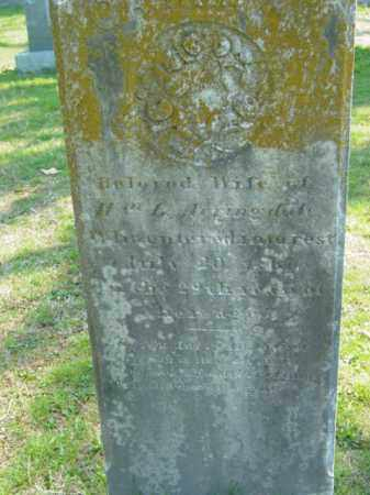 ARRINGDALE, WIFE OF WILLIAM - Talbot County, Maryland | WIFE OF WILLIAM ARRINGDALE - Maryland Gravestone Photos