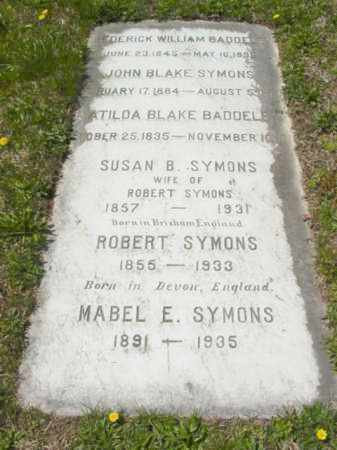 SYMONS, SUSAN B. - Talbot County, Maryland | SUSAN B. SYMONS - Maryland Gravestone Photos