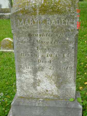PLUMMER BADEN, MARY E. - Talbot County, Maryland | MARY E. PLUMMER BADEN - Maryland Gravestone Photos