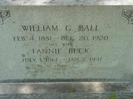 BALL, WILLIAM G. - Talbot County, Maryland | WILLIAM G. BALL - Maryland Gravestone Photos