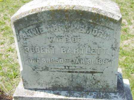 NORTHEMOR BARTLETT, ANNA - Talbot County, Maryland   ANNA NORTHEMOR BARTLETT - Maryland Gravestone Photos