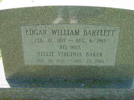 BARTLETT, NELLIE VIRGINIA - Talbot County, Maryland | NELLIE VIRGINIA BARTLETT - Maryland Gravestone Photos