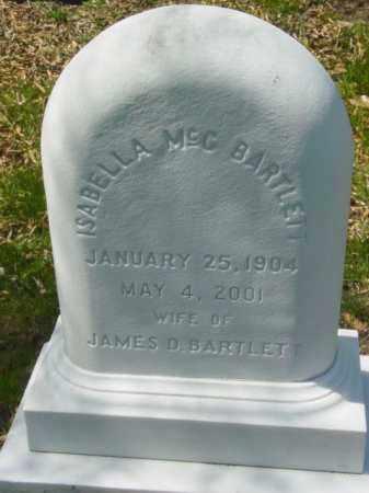 BARTLETT, ISABELLA MCC - Talbot County, Maryland | ISABELLA MCC BARTLETT - Maryland Gravestone Photos