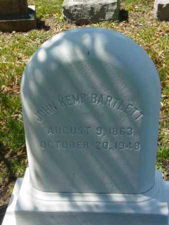 BARTLETT, JOHN KEMP - Talbot County, Maryland | JOHN KEMP BARTLETT - Maryland Gravestone Photos