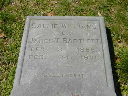 BARTLETT, SALLIE - Talbot County, Maryland | SALLIE BARTLETT - Maryland Gravestone Photos