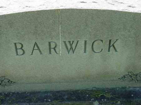 BARWICK, MONUMENT - Talbot County, Maryland   MONUMENT BARWICK - Maryland Gravestone Photos