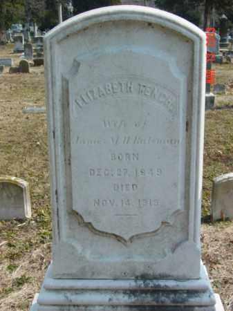 BATEMAN, ELIZABETH - Talbot County, Maryland | ELIZABETH BATEMAN - Maryland Gravestone Photos