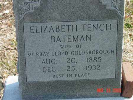 BATEMAN, ELIZABETH TENCH - Talbot County, Maryland | ELIZABETH TENCH BATEMAN - Maryland Gravestone Photos
