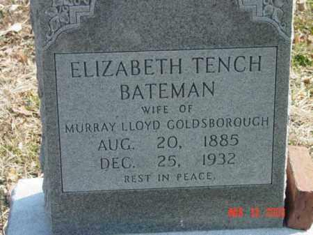 BATEMAN, ELIZABETH TENCH - Talbot County, Maryland | ELIZABETH TENCH BATEMAN - Maryland Gravestone Photos