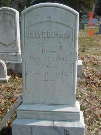 BATEMAN, HENRY E. - Talbot County, Maryland | HENRY E. BATEMAN - Maryland Gravestone Photos