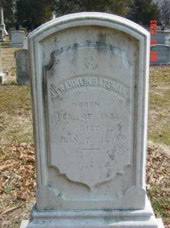 BATEMAN, J. FRANKLIN - Talbot County, Maryland | J. FRANKLIN BATEMAN - Maryland Gravestone Photos