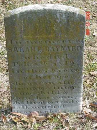 BAYNARD, SARAH E. - Talbot County, Maryland | SARAH E. BAYNARD - Maryland Gravestone Photos