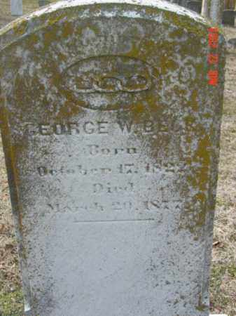 BECK, GEORGE W. - Talbot County, Maryland | GEORGE W. BECK - Maryland Gravestone Photos