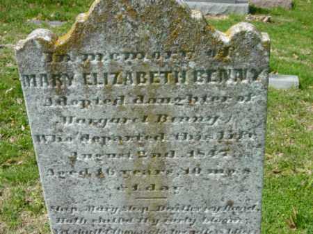 BENNY, MARY ELIZABETH - Talbot County, Maryland   MARY ELIZABETH BENNY - Maryland Gravestone Photos
