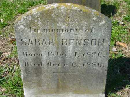 BENSON, SARAH - Talbot County, Maryland | SARAH BENSON - Maryland Gravestone Photos