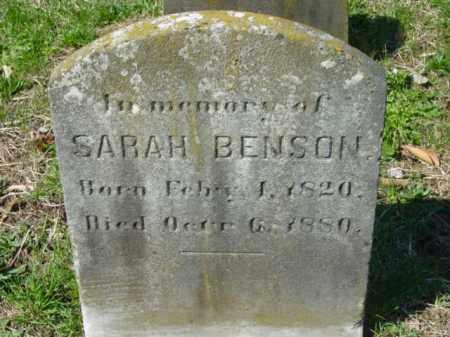 BENSON, SARAH - Talbot County, Maryland | SARAH BENSON - Maryland Gravestone Photos
