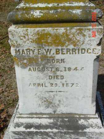 BERRIDCE, MARY E. W. - Talbot County, Maryland | MARY E. W. BERRIDCE - Maryland Gravestone Photos