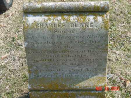 BLAKE, CHARLES - Talbot County, Maryland   CHARLES BLAKE - Maryland Gravestone Photos